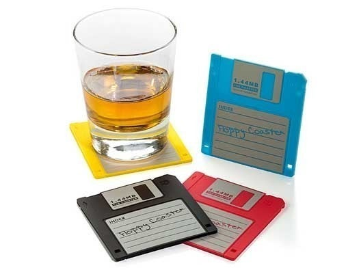 Floppy Disk Drink Coasters