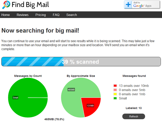 Find Big Mail screenshot