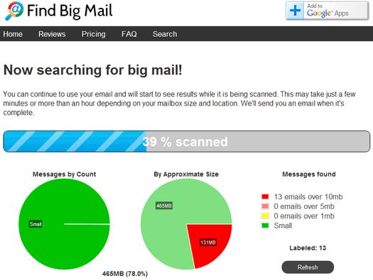 Find Big Mail screenshot