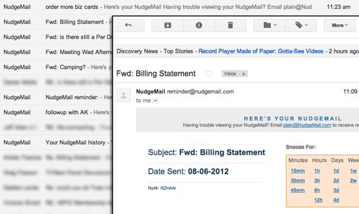 NudgeMail screenshot