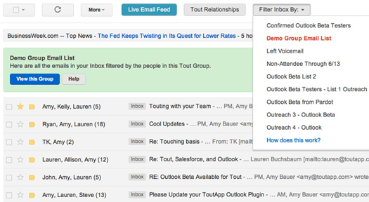 Gmail - ToutApp screenshot