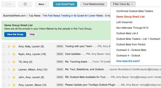 Gmail - ToutApp screenshot