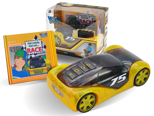 Worx Toys racecar and book