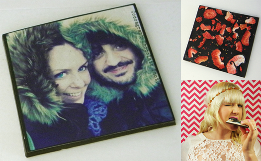 Cocoagraph chocolates with printed photos