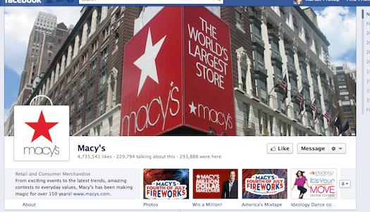 Macys Facebook page