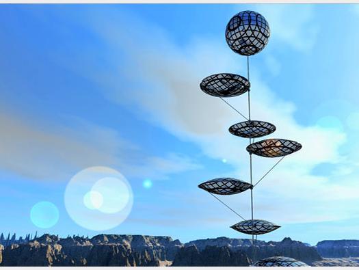balloons with solar arrays
