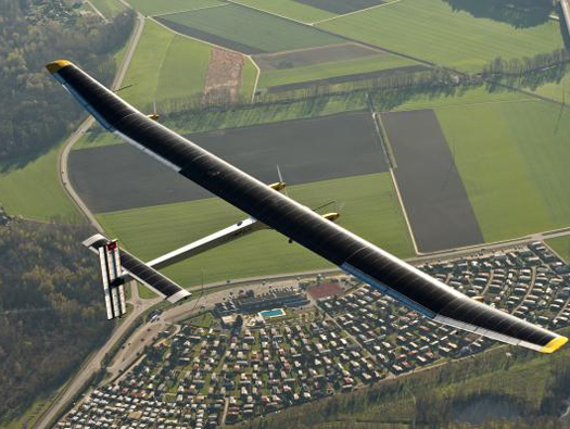 Solar Impulse plane in flight