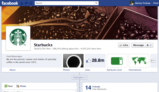 Starbuck Facebook page