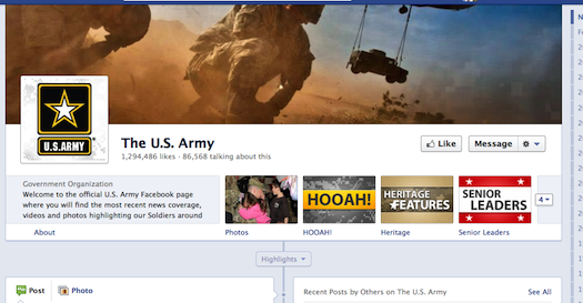 USArmy_facebookpage