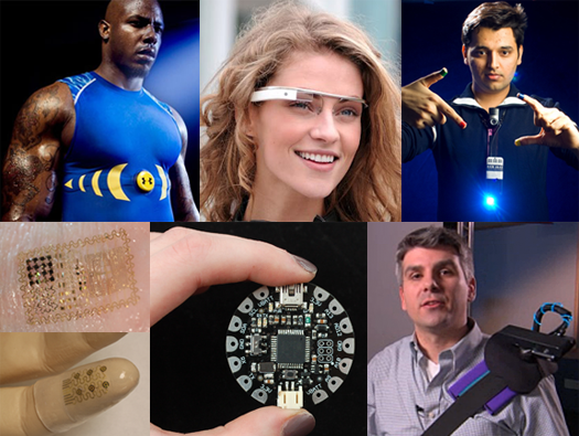 collage of wearable computing products