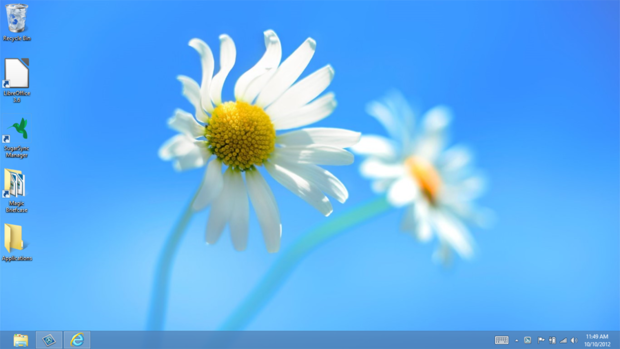 the Desktop in Windows 8