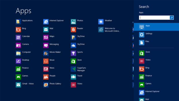 Windows 8 Search charm