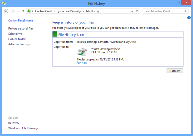 Windows 8 File History