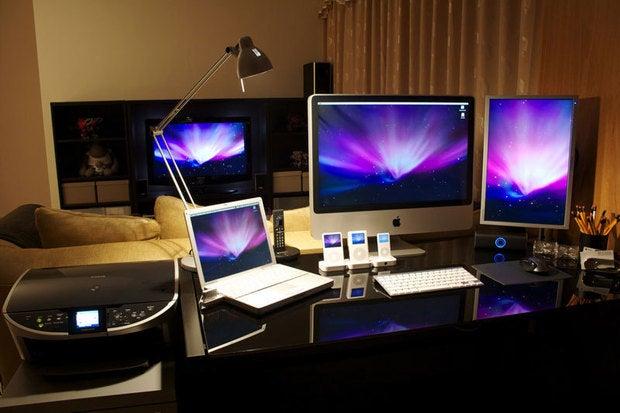 C.D.\'s Apple-filled workstation