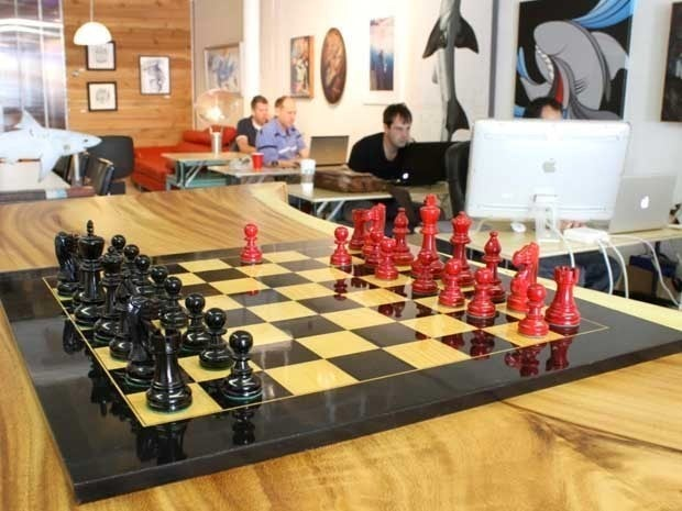 Picture of a chessboard at The Box Jelly offices