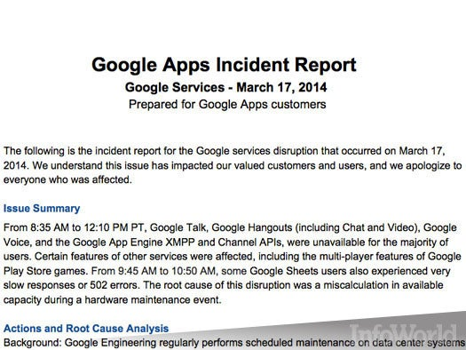 Google goes down, take 2