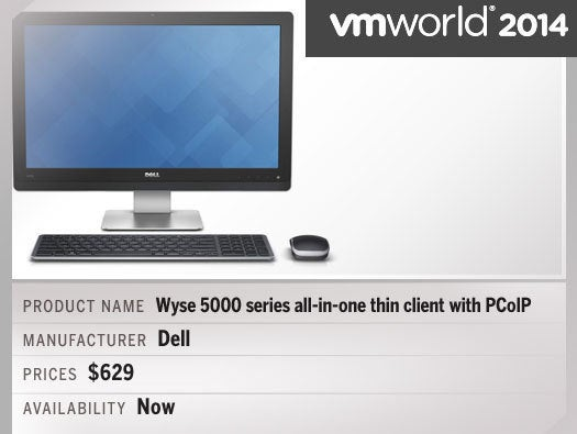 Wyse 5000 series all-in-one thin client with PCoIP