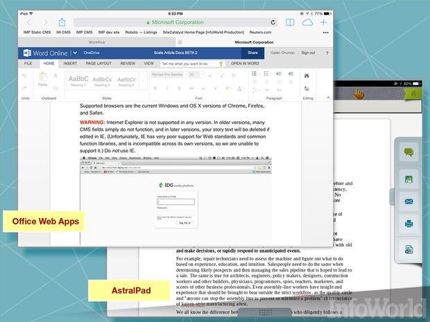 Microsoft Web Apps, AstralPad, OnLive Desktop