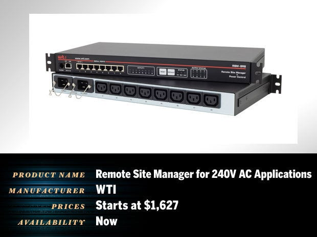 Remote Site Manager for 240V AC Applications