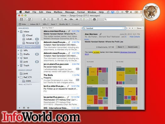 OS X Mountain Lion Mail in-message search