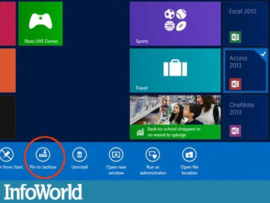 Coping with Windows 8 Start: Taskbar pinning