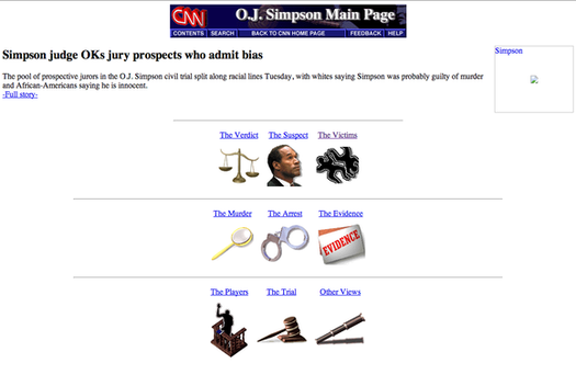 "CNN\'s ""O.J. Simpson Main Page"""