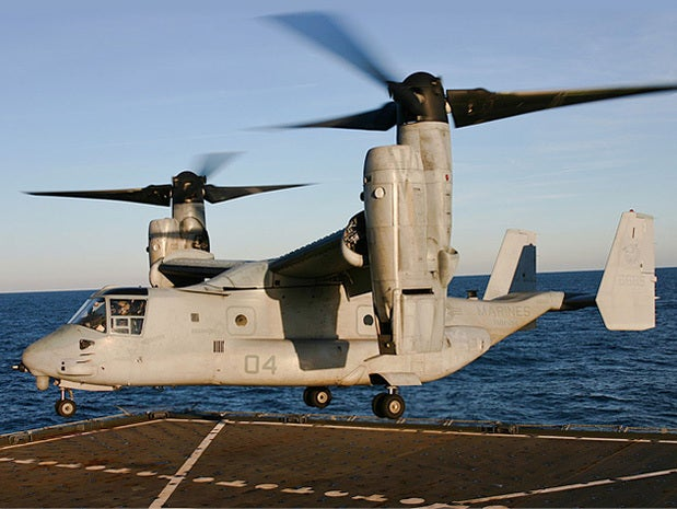 V-22 Osprey takes flight
