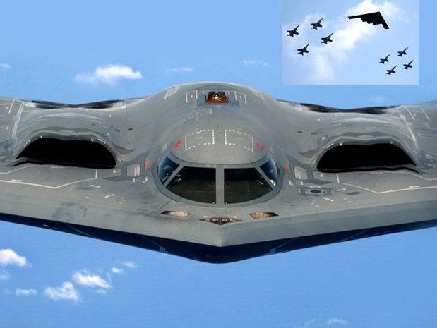 B-2 stealth bomber takes flight