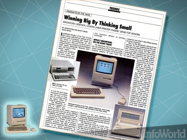 Macintosh: InfoWorld 1985 product of the year