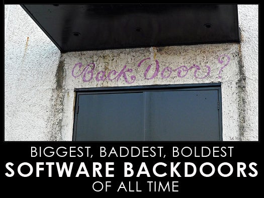 The boldest software backdoors of all time
