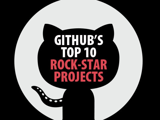 GitHub's top 10 rock-star projects