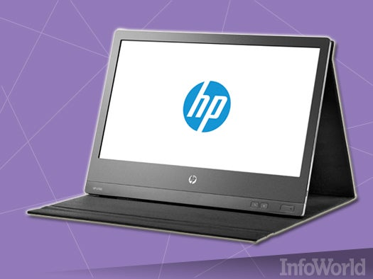 AOC E1649FWU or HP U160 USB-powered monitor