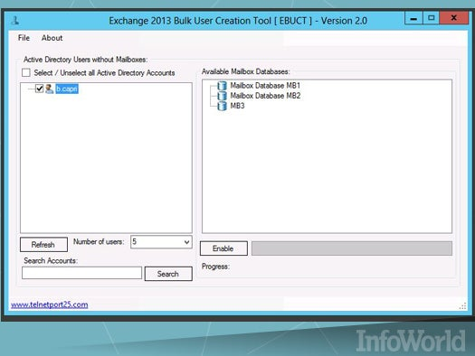 Exchange Bulk User Creation Tool v 2.0 by Andy Grogan