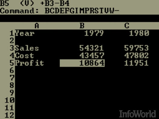 Spreadsheets: VisiCalc
