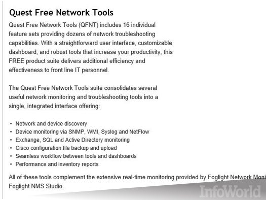 Quest Free Network Tools