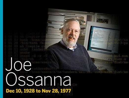 Joe Ossanna (Dec 10, 1928 to Nov 28, 1977)
