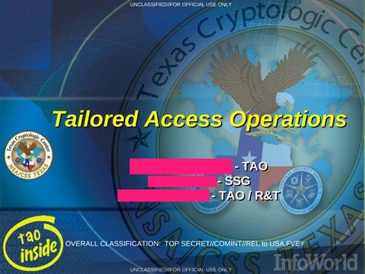 The NSA\'s TAO hardware backdoors