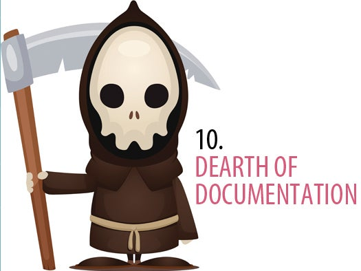 10. Poor documentation