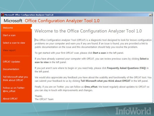 The Office Configuration Analyzer Tool