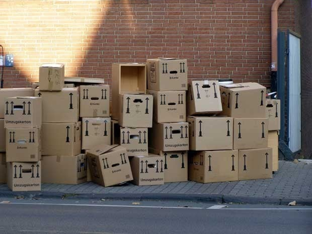 Picture of stacks of boxes