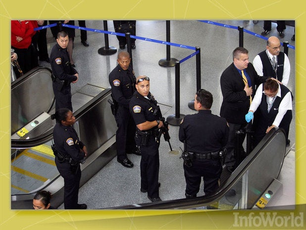 Identify passengers stuck in airport security