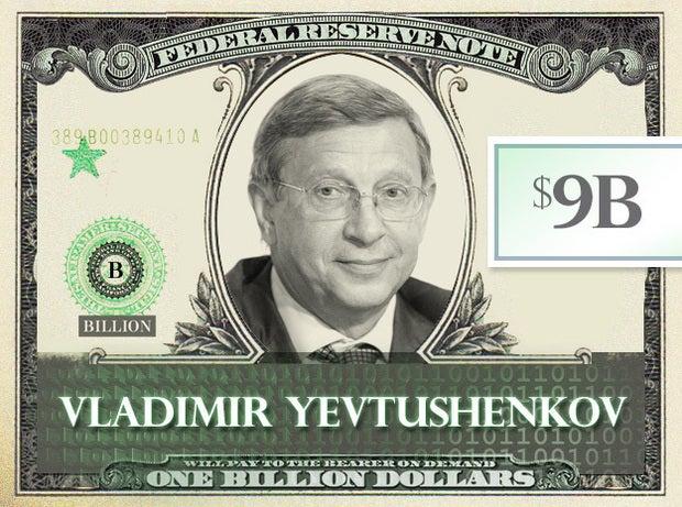 Vladimir Yevtushenkov, $9B