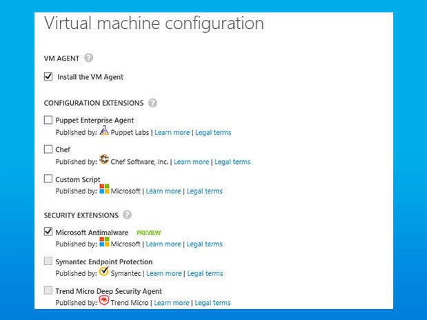 New Azure VM extensions