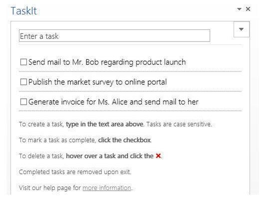TaskIt for Word 2013