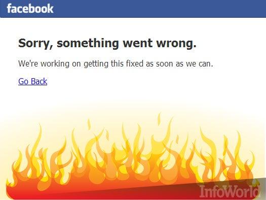 Facebook falls flat