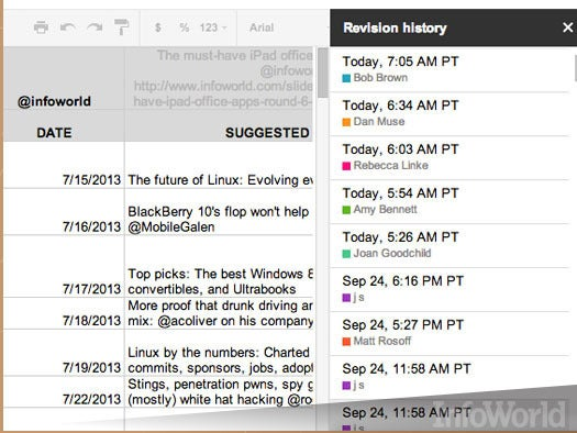 7. Keep track of changes in Google Docs