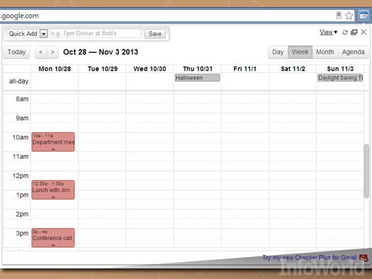 9. Put your Calendar in Chrome