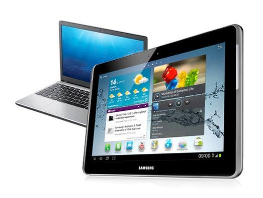 Samsung Galaxy Tab 2 tablet bundled with Samsung Series 3 laptop