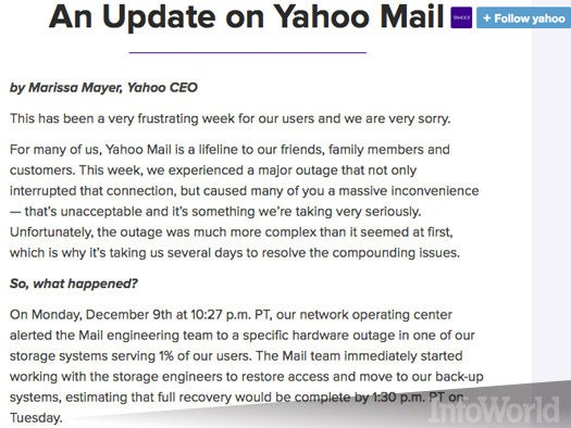 The Yahoo Mail outage aftermath