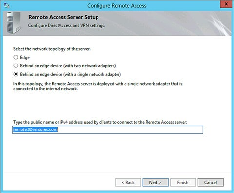 Windows Server 2012 - DirectAccess
